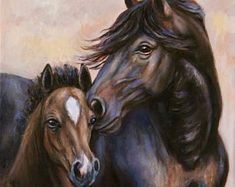 Original Mare and Foal Painting--Reserved for Cynthia--Fine Art Horse Oil Painting- 'Eternal Love' love painting Original Mare and Foal Painting--made to order--Fine Art Horse Oil Painting- 'Eternal Love' Horse Oil Painting, Love Painting, Horse Paintings, Horse Head, Horse Art, Buffalo Painting, Canvas Art, Canvas Prints, Beautiful Horses