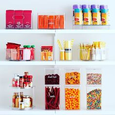 Celebrity chef and cookbook author Chrissy Teigen just got a major pantry makeover, thanks to professional organizer Ría Safford and these storage and organization essentials. Tea Storage, Storage Bins, Locker Storage, Pantry Organization, Organized Pantry, Organizing Ideas, Pantry Makeover, The Home Edit, Container Store
