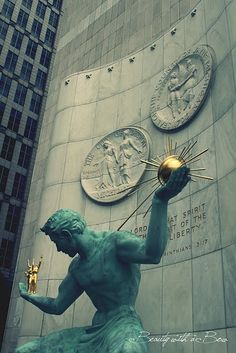Spirit of Detroit statue, located at the Coleman A. Young Municipal Center on Woodward Avenue in Detroit, Michigan, USA. Michigan Travel, State Of Michigan, Detroit Michigan, Detroit Tigers, Travel Oklahoma, Detroit Rock City, Detroit Area, Metro Detroit, Detroit Downtown