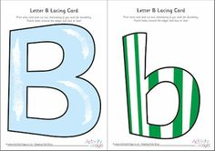 Letter B lacing card