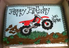 38 Ideas For Dirt Bike Birthday Party Cake Motocross Motorcycle Birthday Parties, Dirt Bike Birthday, Motorcycle Party, Birthday Fun, Birthday Party Themes, Cake Birthday, Birthday Ideas, Motorbike Cake, Dirt Bike Party