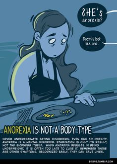 Anorexia is not a body type-- it is a mental illness. You don't want to wait until you become underweight. Seek out treatment NOW. #recovery #edrecovery #eatingdisorders