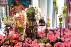 Bouquet Fashion Window Display would look great at the studio!!