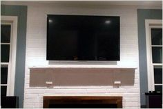 House Project - How to Mount a TV on a Brick Wall - Root & Vine