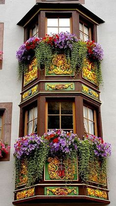 Flowers and gold.. Rottweil, Baden-Wurttemberg, Germany | Flickr - Photo by SBA73