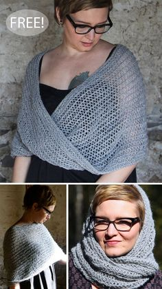 Free Knitting Pattern for 4 Row Repeat Moebius Shawl - Seamless shawl knit with . Free Knitting Pattern for 4 Row Repeat Moebius Shawl - Seamless shawl knit with dropped stitches and garter stitch in a . Crochet Lace Scarf, Crochet Lace Edging, Knit Crochet, Knitted Shawls, Shawl Patterns, Knitting Patterns Free, Crochet Patterns, Free Pattern, Infinity Scarf Knitting Pattern