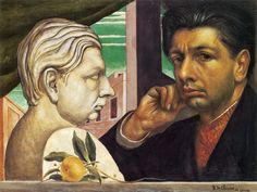 """DE CHIRICO-SELF PORTRAIT.  """"Everything has two aspects: the current aspect, which we see nearly always and which ordinary men see, and the ghostly and metaphysical aspect, which only rare individuals may see in moments of clairvoyance and metaphysical abstraction"""""""