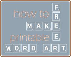 How to make free word art