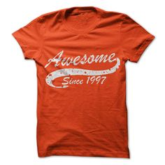 Awesome since 1997 T-Shirts, Hoodies. VIEW DETAIL ==► https://www.sunfrog.com/Birth-Years/Awesome-since-1997.html?id=41382
