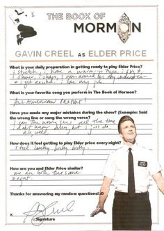 THE BOOK OF MORMON with Gavin Creel