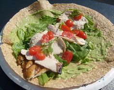 Grilled Chicken  Guacamole Wrap