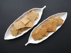 Flaxseed crackers 1 c flax meal Shake of garlic powder Salt 1/2 c water