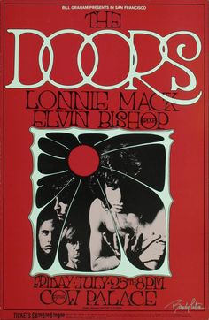 The Doors And Lonnie Mack Original Concert Poster