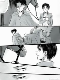 Levi and his way at looking at Eren.< This breaks my heart because Eren reminds him of Isabel😭 Ereri, Eren E Levi, Attack On Titan Ships, Attack On Titan Anime, Levi Ackerman, Images Gif, Wattpad, Action, Fujoshi