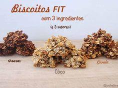Receita Outro : Biscoitos fit (com 3 ingredientes e 3 sabores) de Joanaazeitao