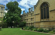 University College Fellows' Garden - summer 2016... Oxford England, University College, Summer 2016, Beautiful Gardens, Uk Sites, Mansions, House Styles, Mansion Houses, Manor Houses