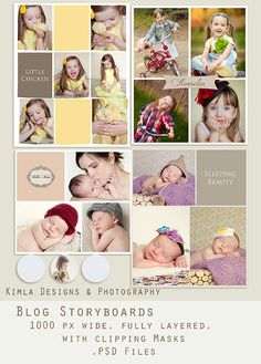 Blog Boards Templates psd file 1000 px width by KimlaDesigns, $8.99