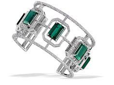 Carl K. Gumpert #green tourmaline cuff bracelet #artdeco #brittspick