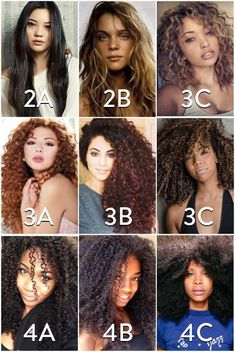 Hair Texture Chart Type Natural Types Journey