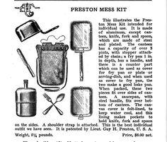 Horace Kephart gear - Preston Mess Kit