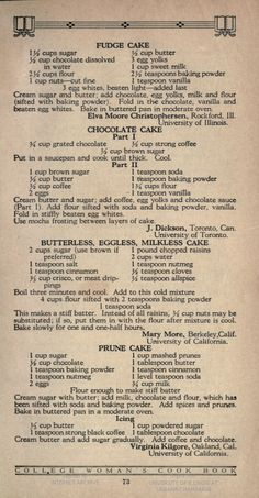 1923 - 73 | The College Woman's Cook Book | Published by The College Woman's Cook-Book Association, Evanston, Illinois
