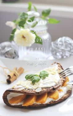Make it healthier: Omlet z owocem kaki