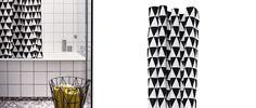 Cortina de ducha o de baño Triangle Shower Curtain de ferm LIVING. Ideal para tu cuarto de baño. #fermLIVING, #curtain, #showercurtain, #cortinadebano, #cortina, #decoration, #decoracion, #interiorismo, #interiorism, #home, #bath, #bano, #esilonordico #estiloescandinavo.