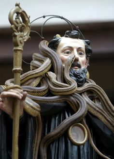 This photo may be not that picturesque but the story behind is stunning: Every first Thursday in May, the town of Cocuyo, in Italy, carries the statue of Saint Domenico on a snake procession. Saint Domenico was the protector of snake bites, so every year, the Italian town pays homage to him by covering the statue with live snakes after having their fangs taken off.