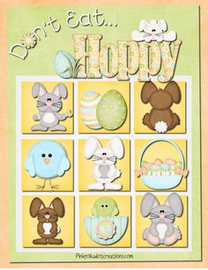 """""""Don't Eat Hoppy""""  Easter version of Don't Eat Pete!  Fun game for young and old alike.  Free printable."""