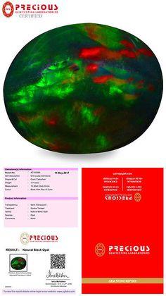 Black Opals 181110: 1.78 Ct Pgtl Certified Oval Cabochon (10 X 9 Mm) Flashing Multicolor Black Opal -> BUY IT NOW ONLY: $59.99 on eBay!
