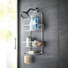 ORG NeverRust Shower Caddy Is Made From Rustproof Aluminum And Has 2  Storage Shelves And A Soap Dish. No Tools Installation Is Easy On Standard  Showerheads.