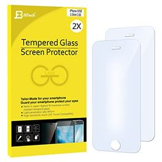 awesome iPhone SE Protector de Pantalla, JETech iPhone SE 5S 5C 5 Protección de los ojos Vidrio Templado Protector de Pantalla