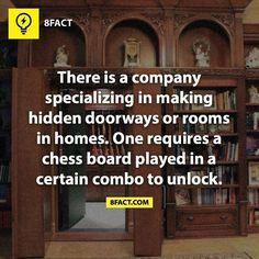 Secret door, hidden doorways, chess board, unlock, #8fact