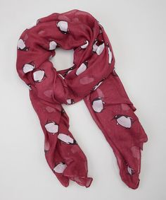 Loving this Pink Penguins Scarf on #zulily, $10 !!  #zulilyfinds