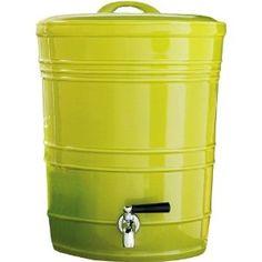 Lime Green Rings Ceramic Drink Dispenser