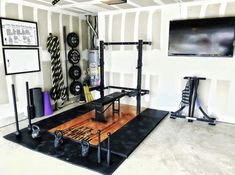 Some home gym owners need to start charging membership fees. The full setup all . - Some home gym owners need to start charging membership fees. The full setup all in one corner! Home Gym Garage, Diy Home Gym, Gym Room At Home, Basement Gym, Best Home Gym, Basement Makeover, Backyard Makeover, Corner Space, Home Gym Design