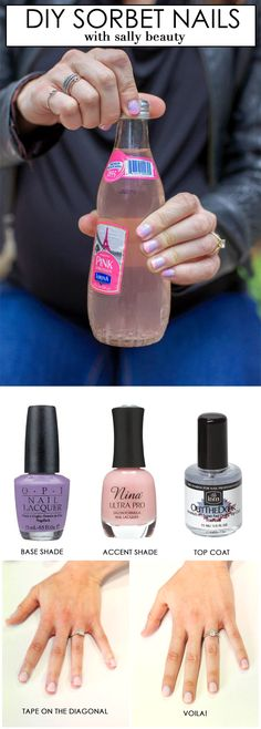 DIY Summer Sorbet Mani that anyone can do feat. @sallybeauty