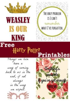 Free Harry Potter Printables
