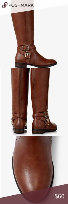 Brown riding boots, NWT, from Express! Never worn, still in packaging, with tags. They are beautiful riding boots from Express. Express Shoes Winter & Rain Boots