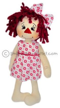 In-The-Hoop Softtoy Raggedy Betty - For a 5 x 7 Hoop