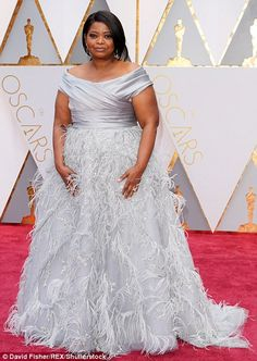 Gorgeous in grey:Octavia Spencer and directorAva DuVernay wore beautiful gowns