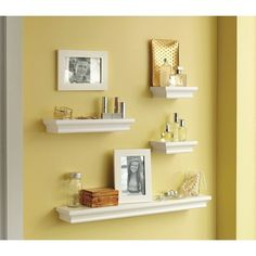 Threshold Floating Shelves Alluring Threshold™ Floating Wall Shelves & Frame  Set Of 6  Our First Design Inspiration