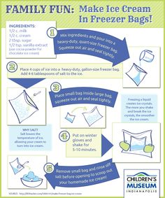 Make your own ice cream using freezer bags!