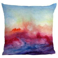 Painterly pillow...Why didn't I think of this sooner! I can Tie-Dye pillow cases for the daybed in the new place!