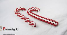 Paracord candy cane tutorial.