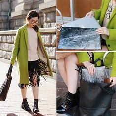 Get this look: http://lb.nu/look/8014234  More looks by Mizuho K: http://lb.nu/xoxohilamee  Items in this look:  Choies Fringed Skirt, Zero Uv Glasses, Choies Lace Up Short Boots, Snupped Laptop Sleeve   #chic #geek #street