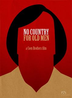 No Country for Old Men (2007) ~ Minimal Movie Poster by Rafael Muller ~ Coen Brothers Series #amusementphile