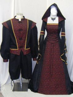 medieval renaissance vampire gothic pagan dress by camelotcostumes, £166.00