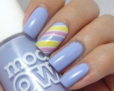 Brit Nails: Pastel Stripes #nails #nailart