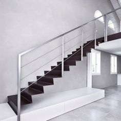 scale a sbalzo in lamiera piegata - ferro - step alfascale Outdoor Handrail, Stair Railing, House Stairs, Staircase Design, Ideas Para, Home Goods, Sweet Home, House Design, Architecture